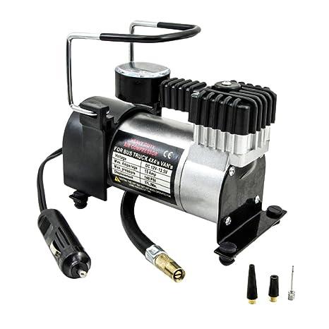 Gazechimp Bomba de Inflado Compresor de Aire Resistente Pieza de Neumático 12V 0-140PSI para