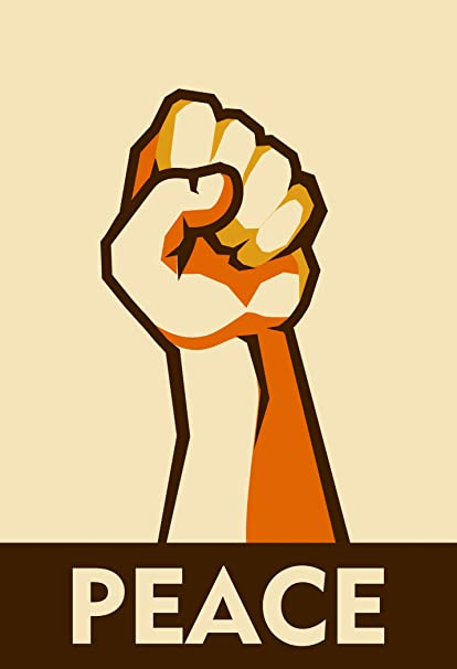 Amazon Fist In The Air Political Symbol For Peace Cartoon Vinyl