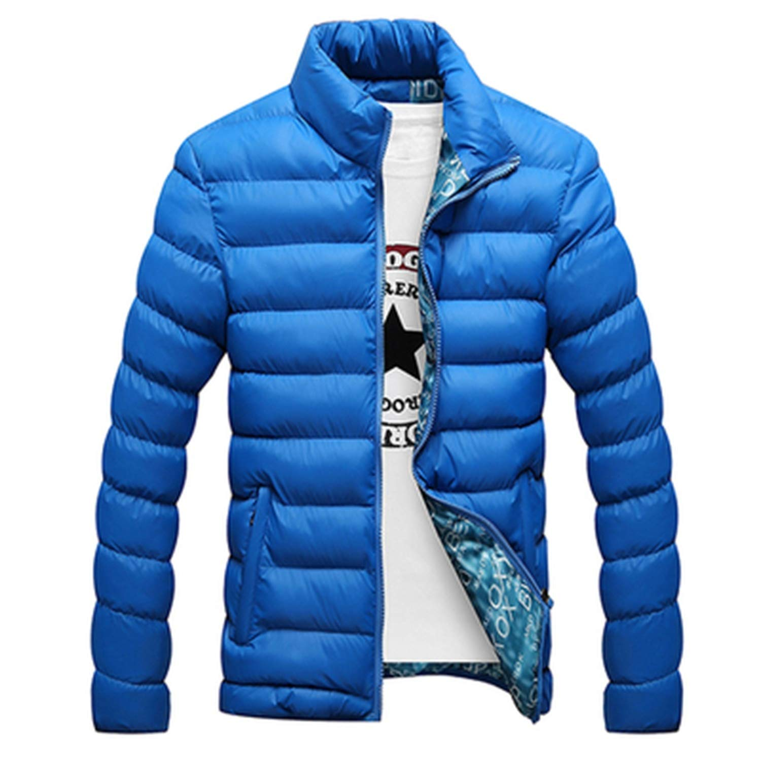 Love essentials Fashion coat Thick Jacket Mens Cotton Blend Mens Bomber Jacket and Coats Casual Thick Outwear