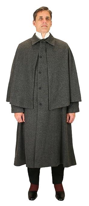 Men's Steampunk Clothing, Costumes, Fashion Historical Emporium Mens Herringbone Tweed Inverness Dress Coat $202.95 AT vintagedancer.com