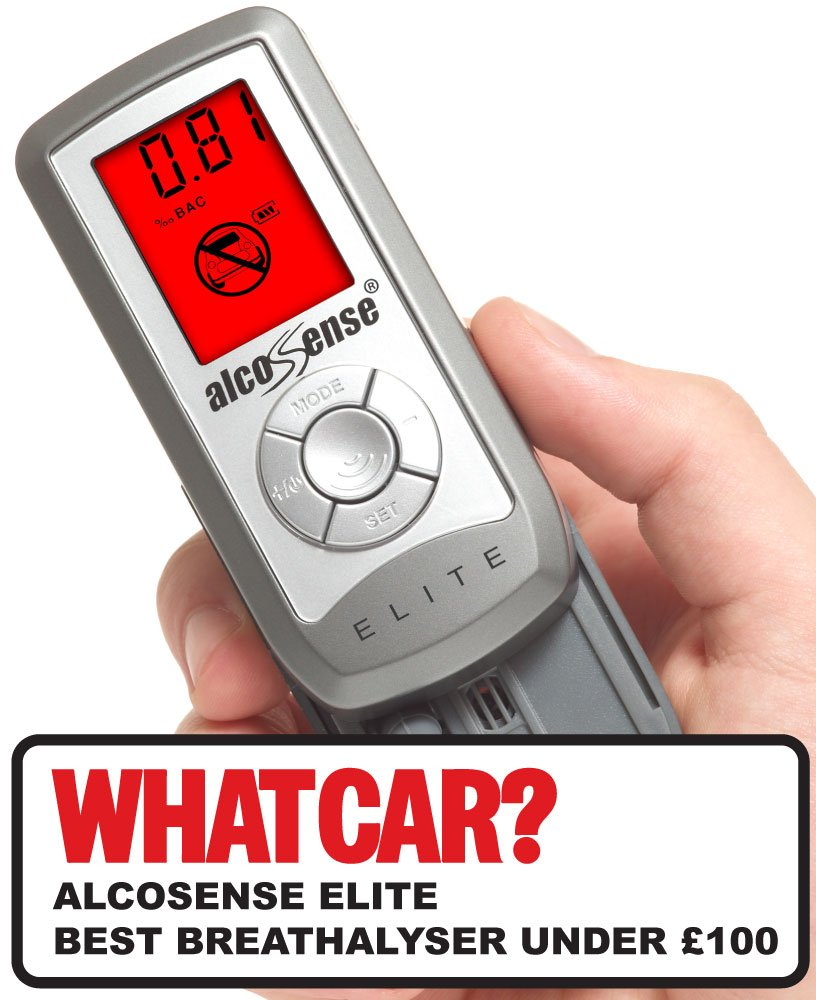 AlcoSense Elite Breathalyzer & alcohol tester - 'What Car' Best Breathalyser under £ 100