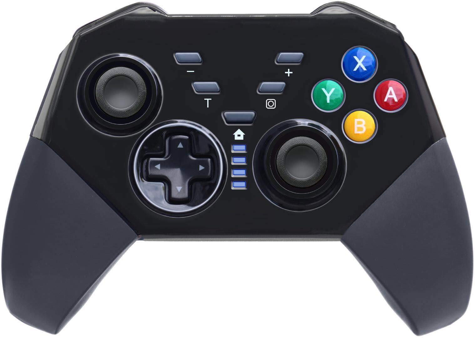 Wireless Pro Controller Compatible with Nintendo Switch Gyro Axis Dual Shock Gaming Gamepad Joypad, Black- PAWHITS