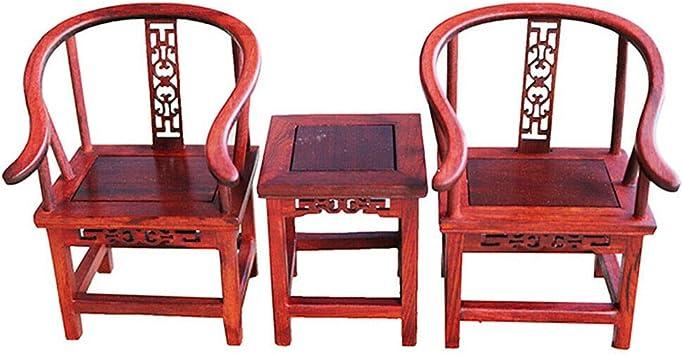 1//6 Dollhouse Miniature Furniture Retro style Handade Armchair End Table #2