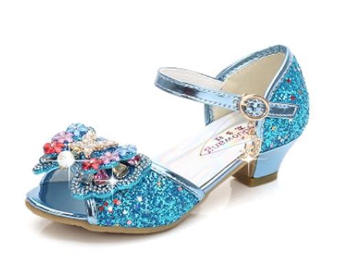 Fanessy. Mädchen Prinzessin Schuhe Sandalen Glitzer