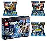 Lego Dimensions Starter Pack + Portal 2 Level Pack + Scooby Doo Team Pack + Jurassic World Team Pack for Playstation 3 PS3 Console