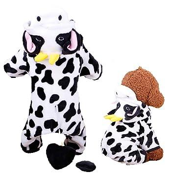 Amazon.com: Ropa de invierno, unisex, para perro, vaca ...