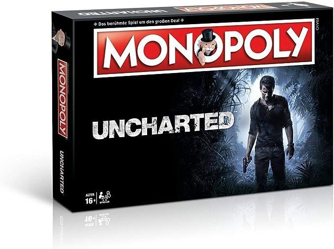 Winning Moves Monopoly Uncharted – El Famoso y Populares Sociedad Juego, Reúnen en el Mundo de Uncharted. (en alemán): Amazon.es: Juguetes y juegos
