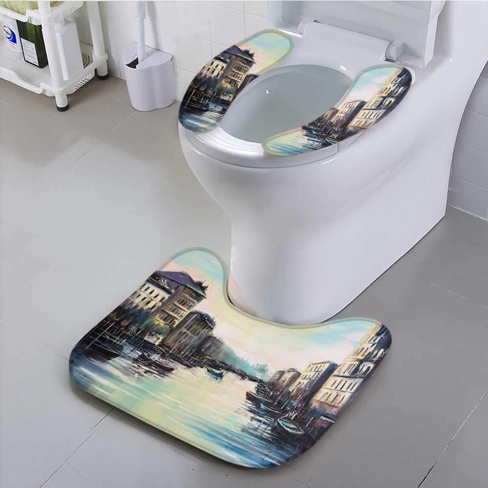 UHOO2018 Universal Toilet seat Elegance Venice Channels at Dawn just Before The Sunrise Convenient Safety and Hygiene