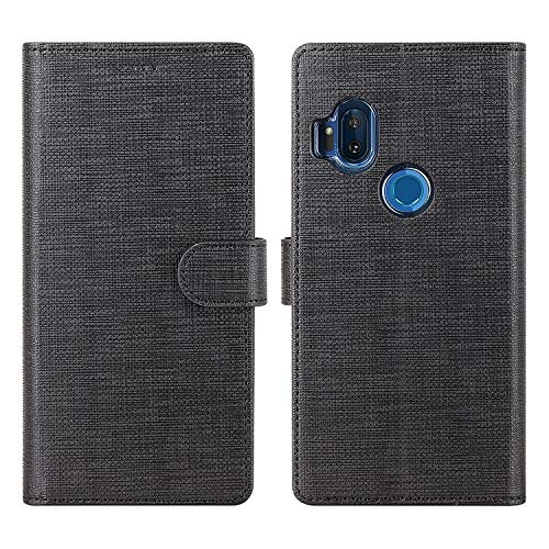Funda Flip Cover Para Motorola One Hyper, Negro