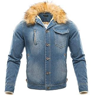 LCXYYY Herren Wintermantel Jeans Jacke Mäntel Denim Jeansjacke Winter Denim  Jacket Gefütterte Revers Slim Fit Winterjacke 48acfedaa6