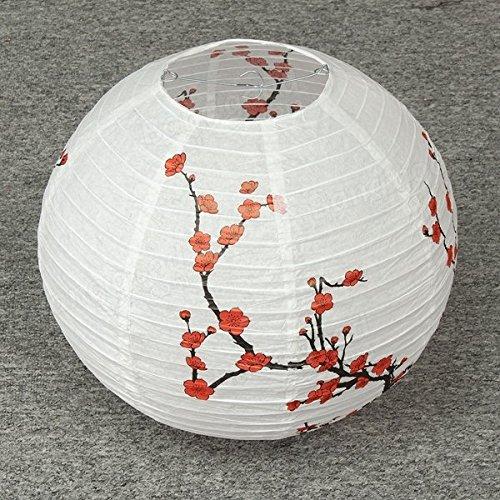 Bazaar 35cm Lampenschirm Papierlaterne Licht chinesischen Bambus Plum Blossom Oriental Decor