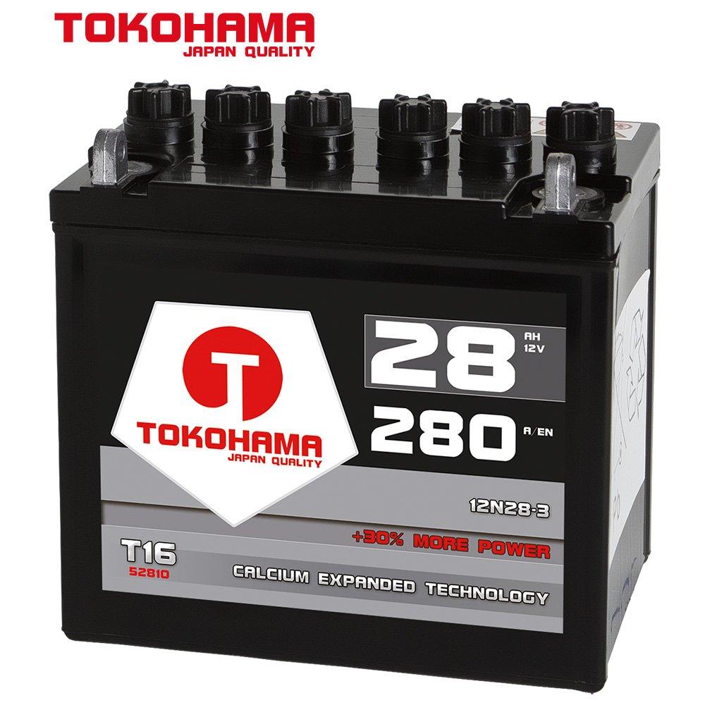 Batería para tractor cortacésped Tokohama tractocortadoras 28Ah 12 ...