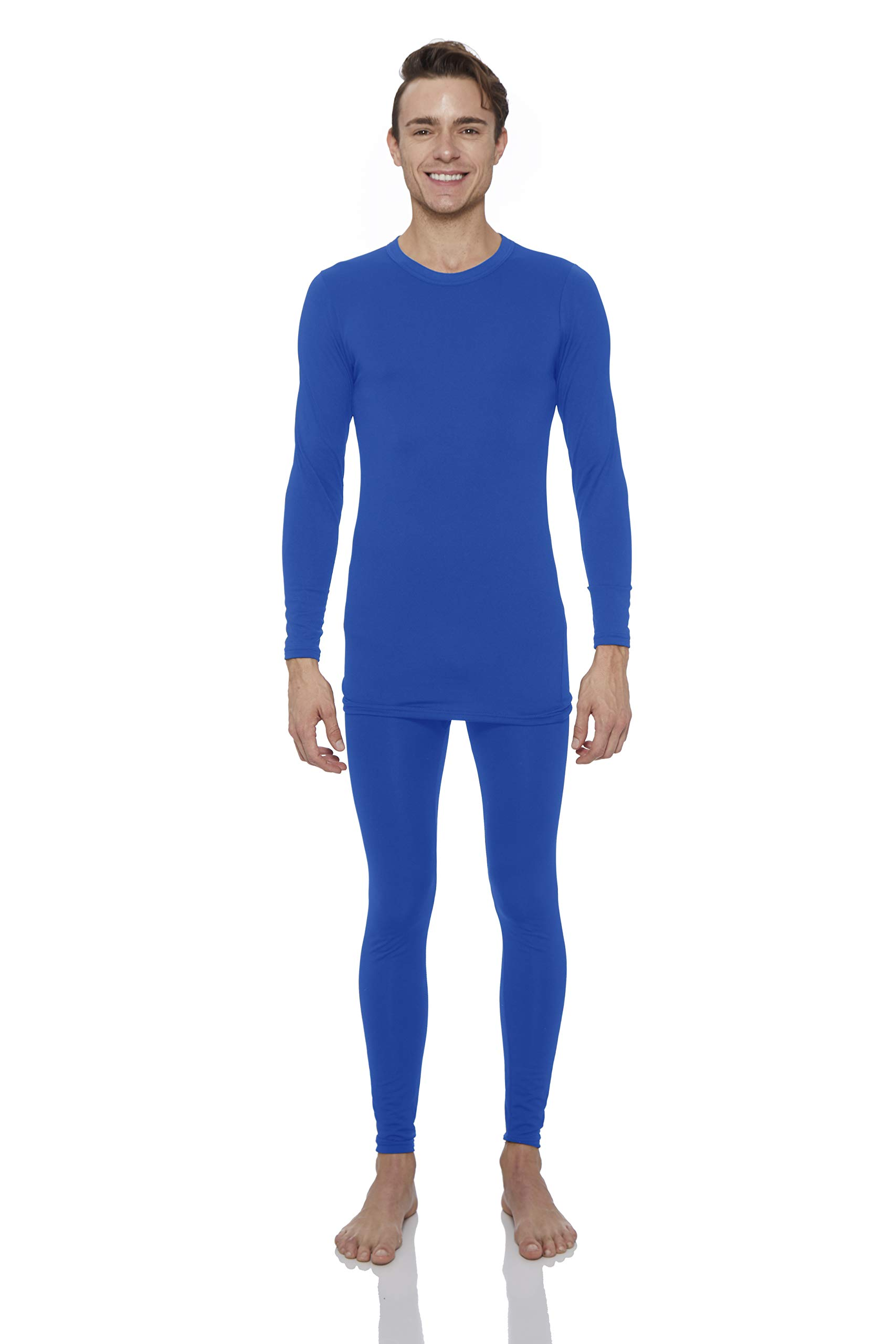 Rocky Thermal Underwear for Men Fleece Lined Thermals Men's Base Layer Long John Set Royal Blue by Rocky