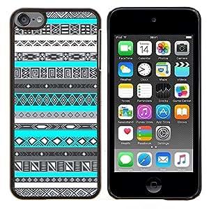 Eason Shop / Premium SLIM PC / Aliminium Casa Carcasa Funda Case Bandera Cover - Patrón indio nativo americano azul - For Apple iPod Touch 6 6th Touch6