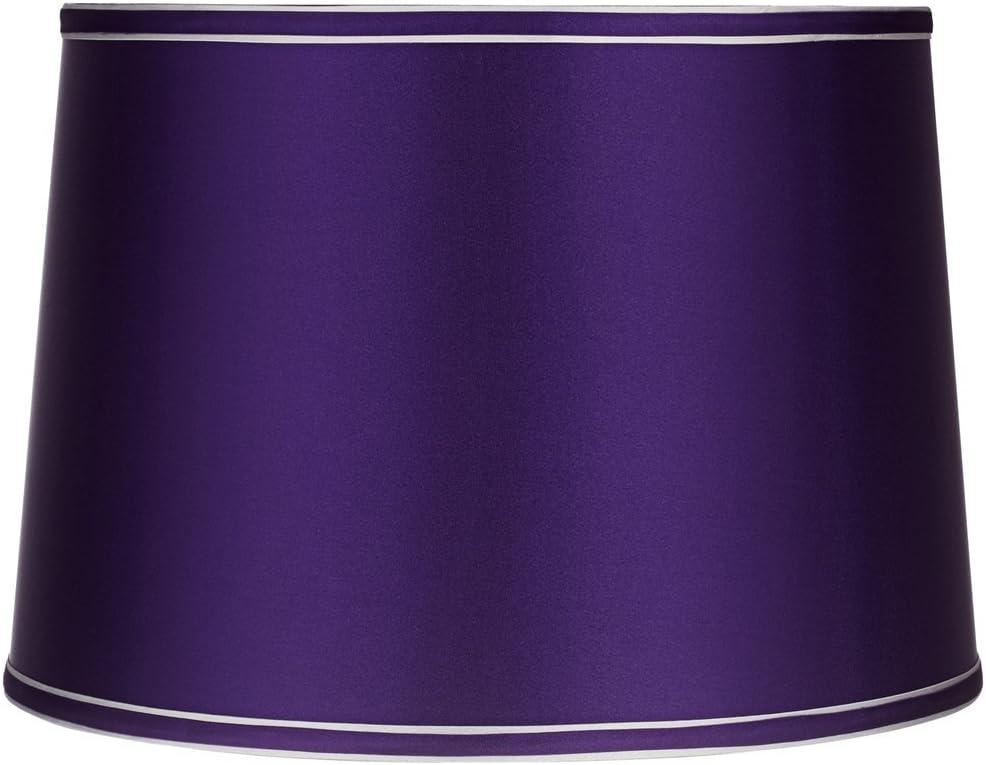 Sydnee Satin Dark Purple Gray Trim Shade 14x16x11 (Spider) - Brentwood