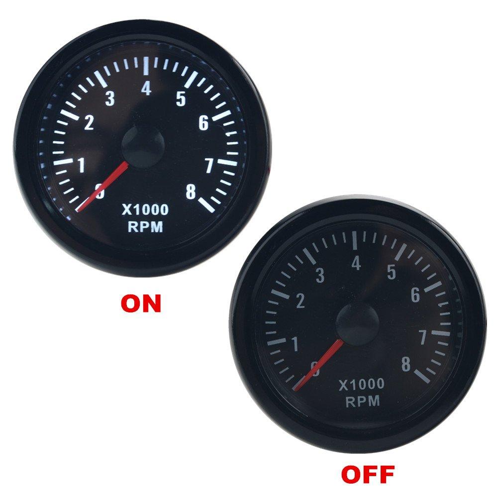 Tachometers Gauges Automotive 1982 Ford F 150 Factory Tach Wiring Dewhel 52mm Vision Tachos Black Universal 8k 8000 Rpm Tachometer Rev Counter Gauge Whiter Led Jdm