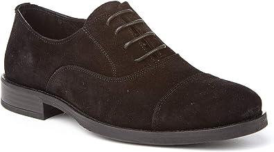 Zapatos Blucher de Hombre Hechos de Piel. Fabricados en España. A&L Shoes Modelo 2970 Zapato Oxford.: Amazon.es: Zapatos y complementos