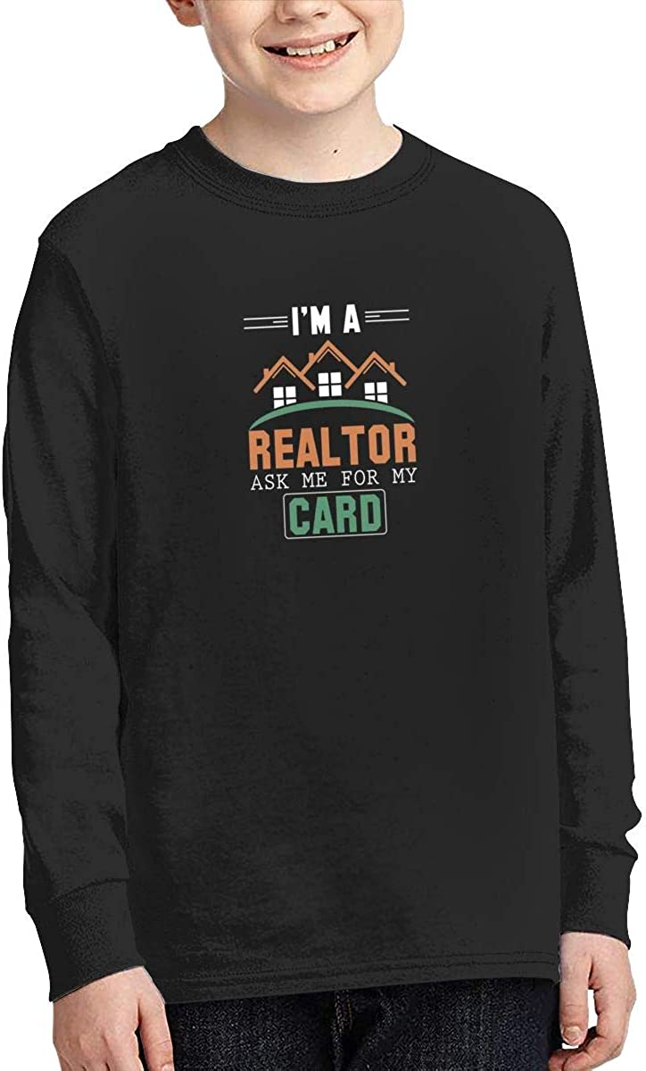 Onlybabycare Im A Realtor Ask Me for My Card Youth Boy Girl Sport Pullover Sweatshirt Solid Shirt