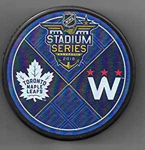 2018 Stadium Series Washington Capitals Toronto Maple Leafs Annapolis, MD NHL Hockey Puck + FREE Cube