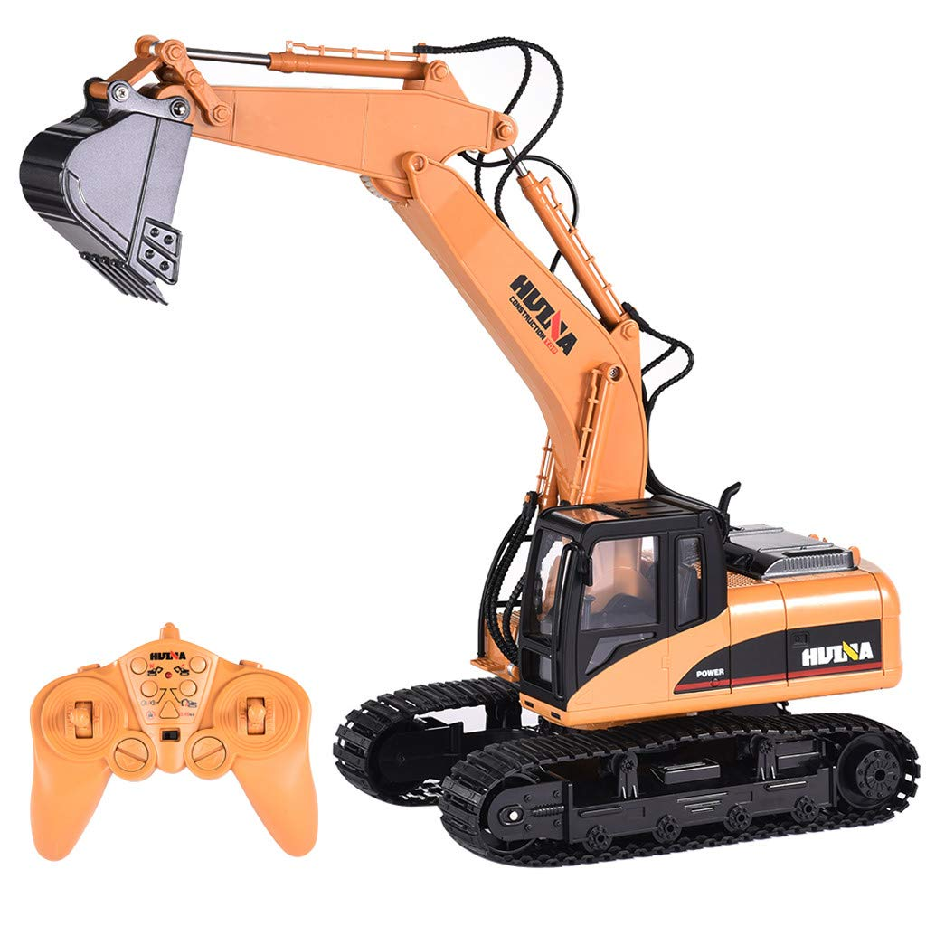 Roisay Construction Vehicle Series - Simulation Toys 1550 1/14 2.4G 15CH Alloy Excavator Engineering Vehicle RC Car Multi-Function Toy American Warehouse Fast Logistics