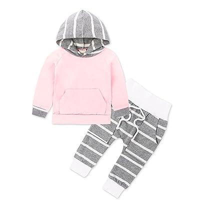 8770d37e6 Fineser TM 2pcs Toddler Infant Baby Boy Clothes Set Striped Cotton ...