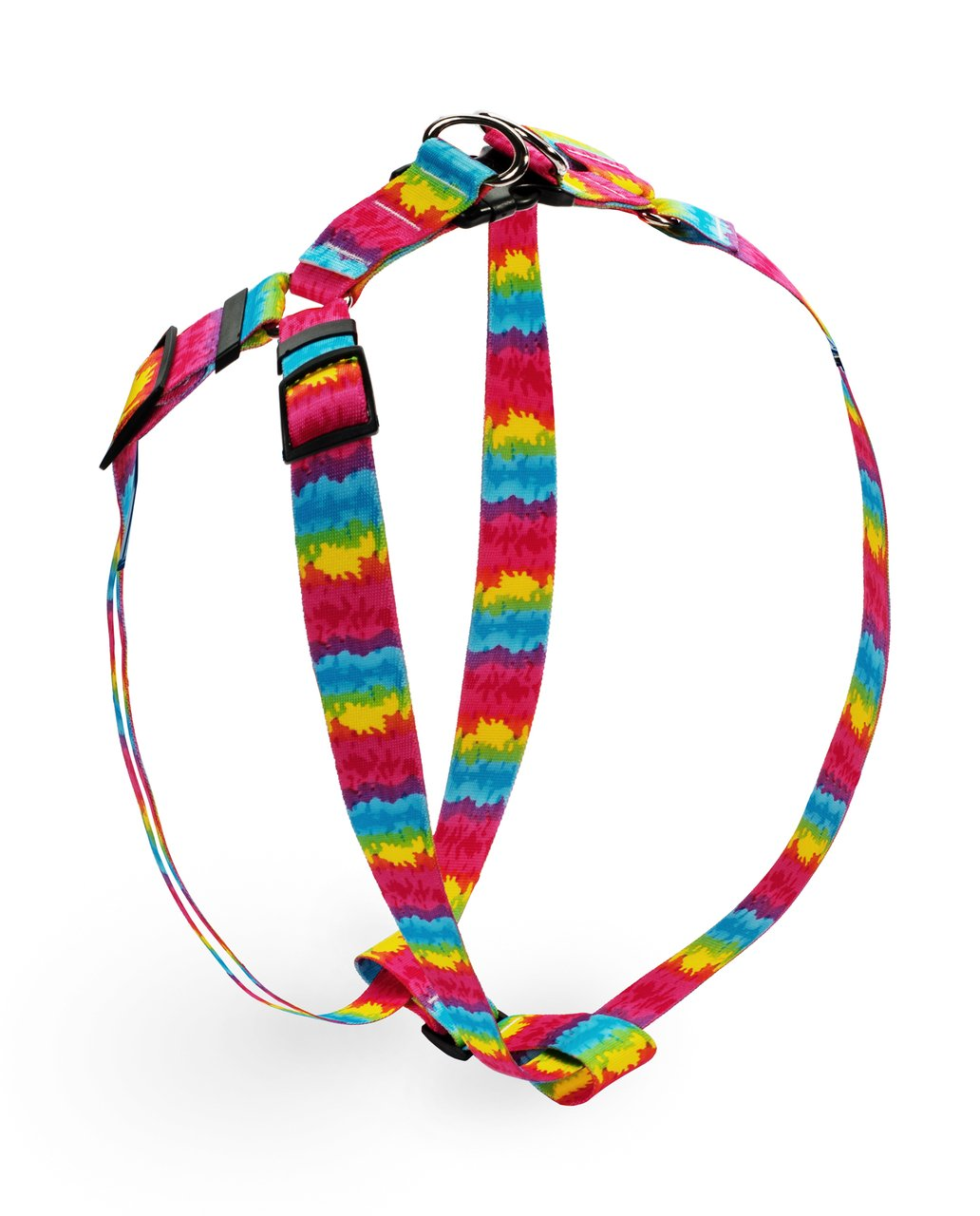 Yellow Dog Design Tie-Dye Step-in Dog Harness-Size Large-1'' Wide and fits Chest Circumference of 25 to 40''