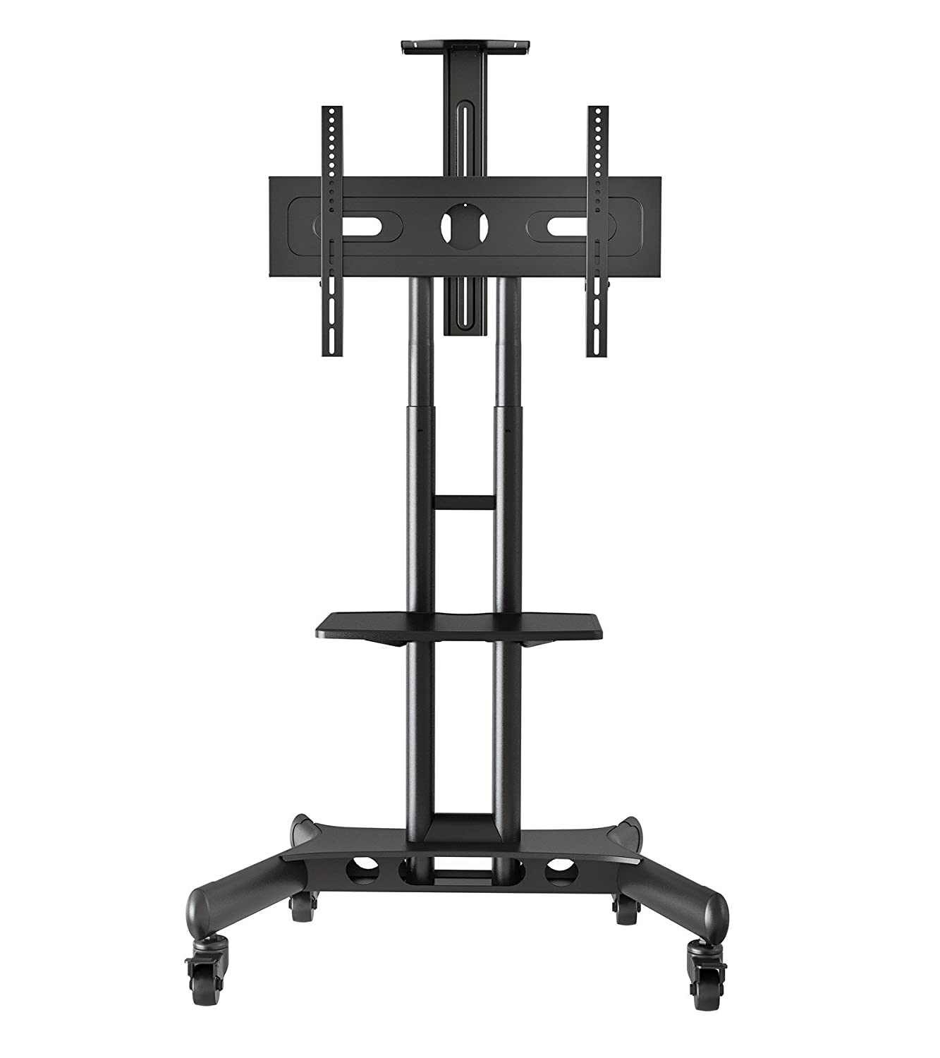 Amazon.com: Mount Factory Rolling TV Cart Mobile TV Stand for 40-65 ...