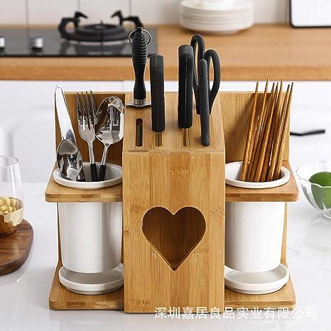 Asiento de cuchillo de madera, sin cuchillo, ahorra espacio ...
