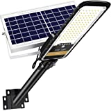 RuoKid 80W Solar Street Lights Outdoor Lamp, 84 LEDs 1500lm IP67 Light with Anti Broken Remote Control Mounting Bracket, Dusk