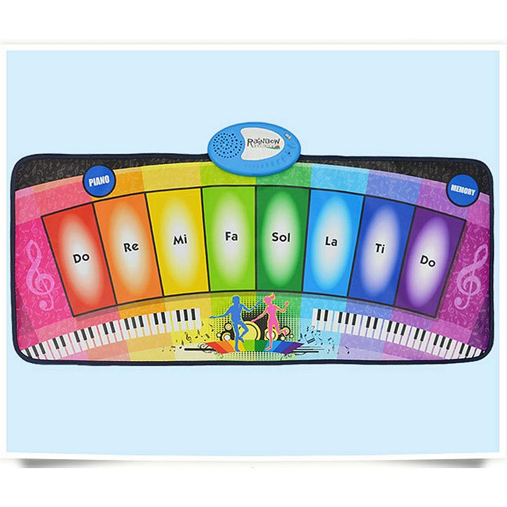 Play Keyboard Mat Foldable Floor Keyboard Piano Dancing Activity Mat 32 Inches 8 Keys Musical Keyboard Playmat With Demo Memory Play Touch-sensitive Step And Play Instrument Toys For Toddlers Kids Chi by GAOCAN-gq (Image #4)