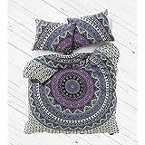 Exclusive mandala duvet cover with pillowcases By Labhanshi, mandala bedding, mandala duvets, mandala bedroom decor, boho comforter cover