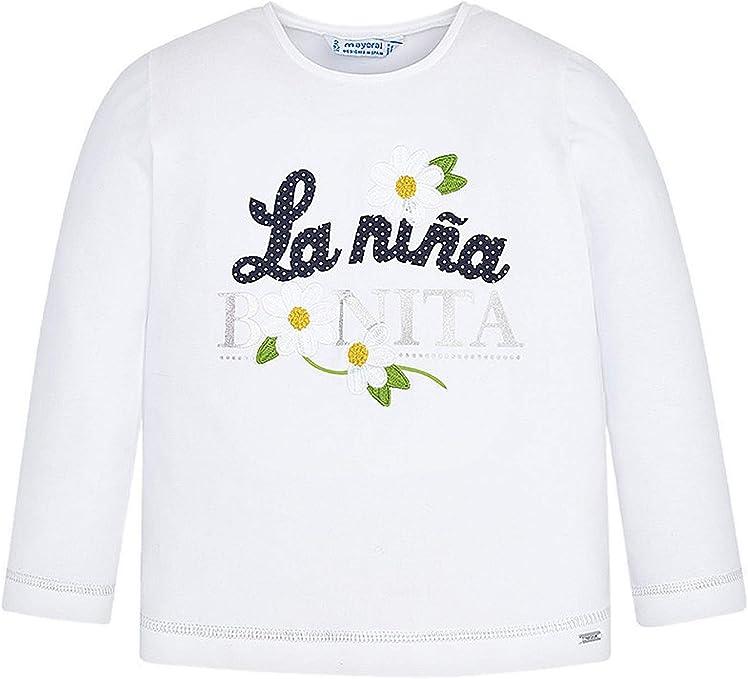 Mayoral, Camiseta Manga Larga para niña - 3019, Blanco: Amazon.es: Ropa y accesorios