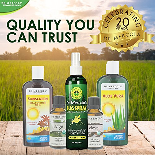 Dr Mercola Bug Spray - 8 Fl Oz Bottle - 100% Deet Free, Uses Essential Oils to Repel Mosquitoes, Fleas, Chiggers, Ticks, and Other Biting Insects, Pleasant Smell, No Harsh Chemicals by Dr. Mercola (Image #7)