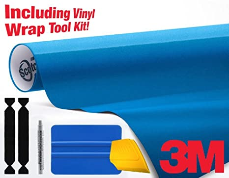 3M 1080 Gloss Metallic Blue Air-Release Vinyl Wrap Roll Including Toolkit  (1ft x 5ft)