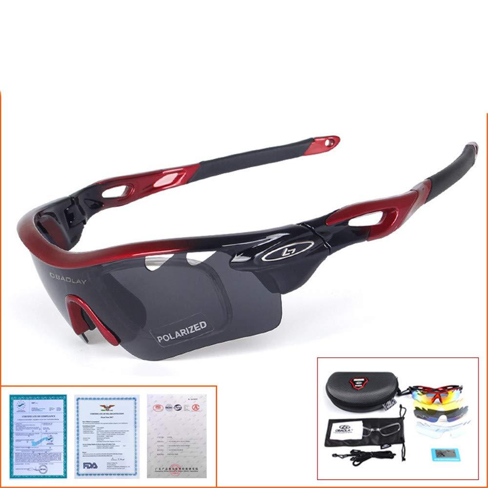 YFFS Portable Glasses Polarized Sunglasses Cycling Sports Glasses Outdoor Sports Sunglasses (Color : A)
