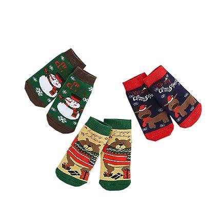 Fairy Baby Calcetines para Navidad 3 Pares de Calcetines para Bebés size S (Big bear