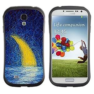 Suave TPU GEL Carcasa Funda Silicona Blando Estuche Caso de protección (para) Samsung Galaxy S4 I9500 / CECELL Phone case / / Moon Crescent Painting Oil Sea Night Sky /