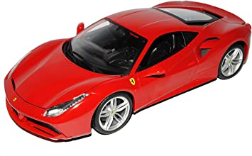 Bburago Ferrari 488 Gtb Coupe Rot Ab 2015 1 18 Modell Auto Mit Individiuellem Wunschkennzeichen Amazon De Spielzeug