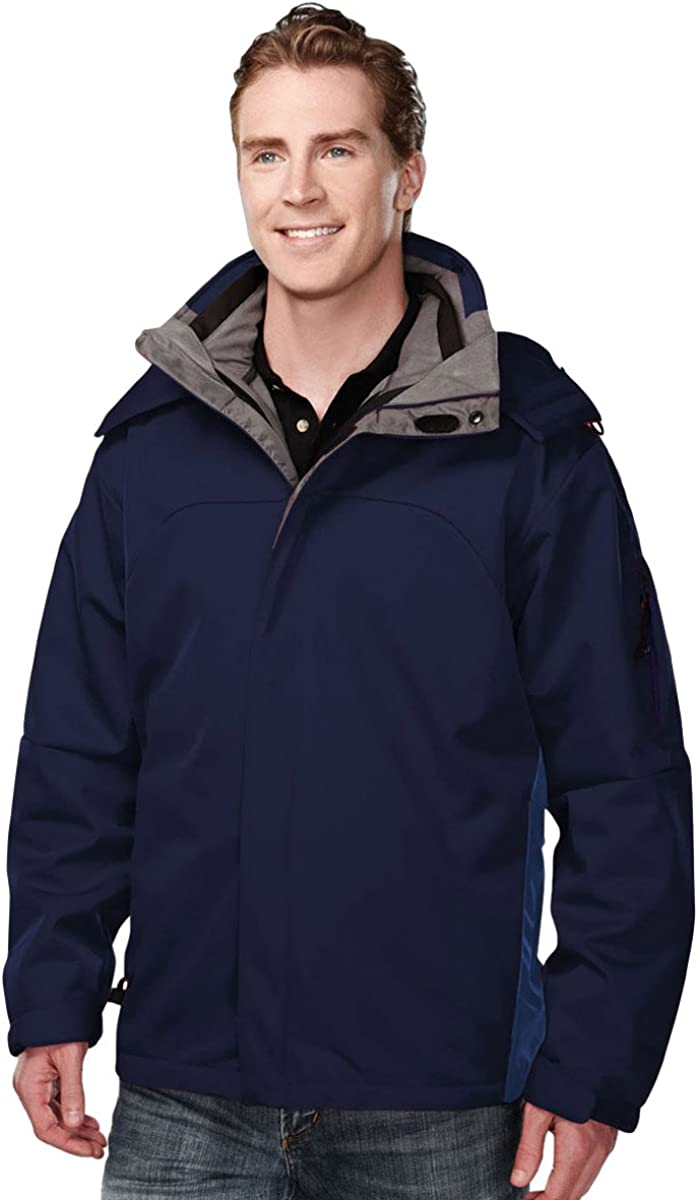 5 Colors Mens Windproof//Water Resistant 3-in-1 Bonded Shell Washington Jacket