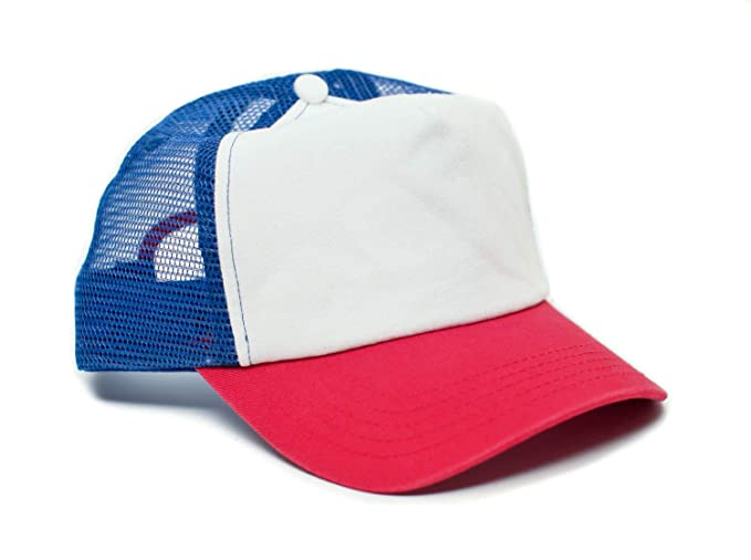 Stranger Things Movie Cap Hat Red White Cotton Royal mesh unisex ... f33bea763111