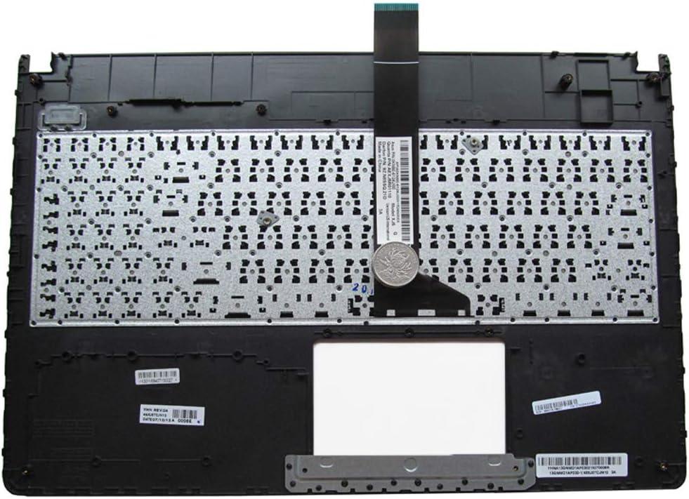 Yaxinglinan Original Compatible with Replacement for ASUS X501 X501A X501U X501EI X501X X501XE Palmrest Cover US Keyboard Upper Case Black Pink x501u C Black