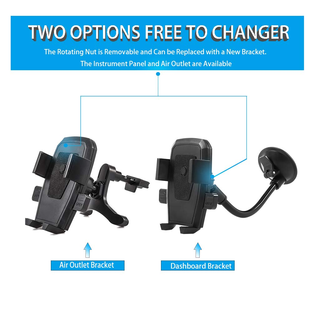 Hose Self-Locking Support Google One-Touch Design for iPhone X// Huawei etc,2in1 Huawei etc/,2in1 Galaxy Hose Self-Locking Support,Mobile Phone Mount Instrument Platform Mount LEYME-Mobile Phone Mount