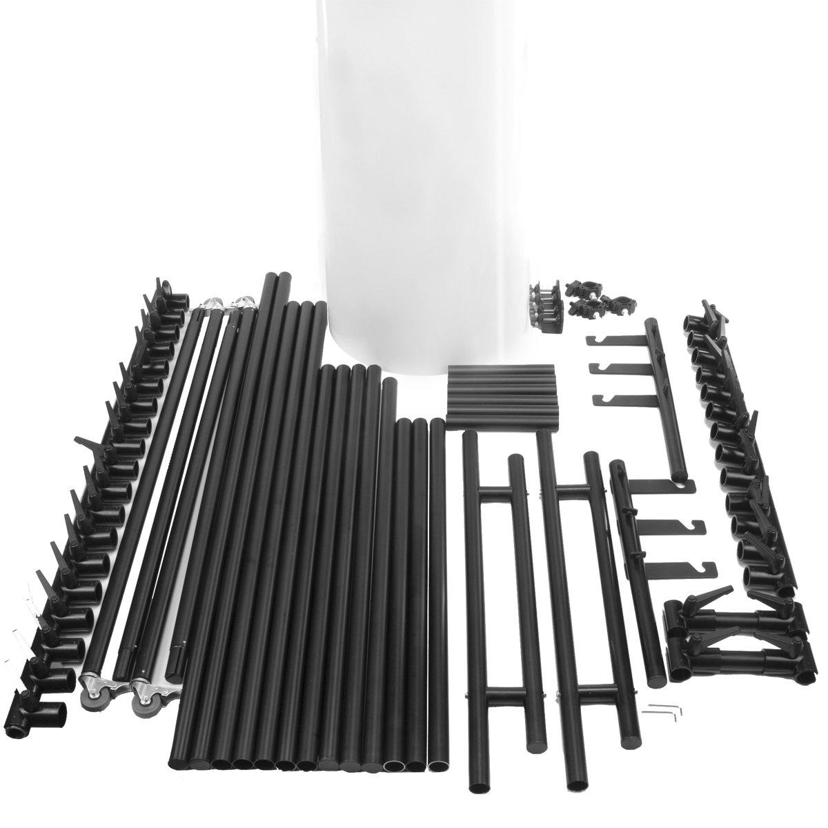 Mesa de fotograf/ía para fotos de producto Walimex Basic tama/ño S, altura de disparo de 50 cm color blanco y negro
