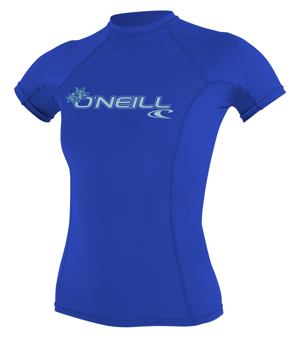 O'Neill Women's Basic 50+ Skins Short Sleeve Rash Guard, Tahitian Blue, Medium by O'Neill Wetsuits