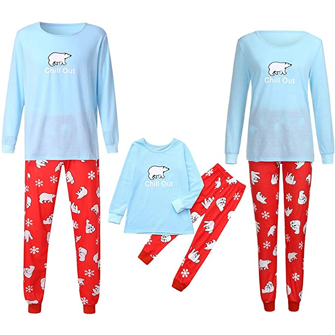POLP Niño Navidad Santa Claus Ropa niñas Unisex casa Pijama Bebe Navidad Regalo Celosía Manga Larga