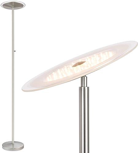 """Kira Home Horizon 70"""" Modern LED Torchiere Floor Lamp 36W"""