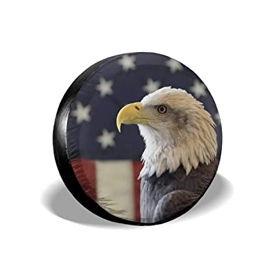 Spare Tire Cover Jeep Eagle American Flag Trailer Truck RV SUV Covers Travel Universal 17 Inch: Automotive