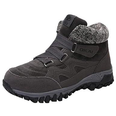 Moonuy Femmes Bottes de Neige Chaud Fourrure Cheville Bottines Impermeable  Antidérapant Boots Fourrées Chaussures pour Hiver ba25d4bf7622