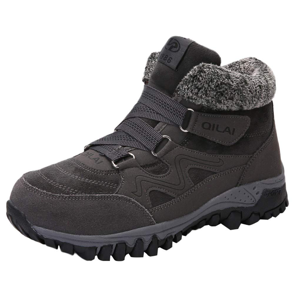 Dacawin Fashion Women's Shoes Casual Sports Non-Slip Winter Warm Within Velvet Shoes Gray