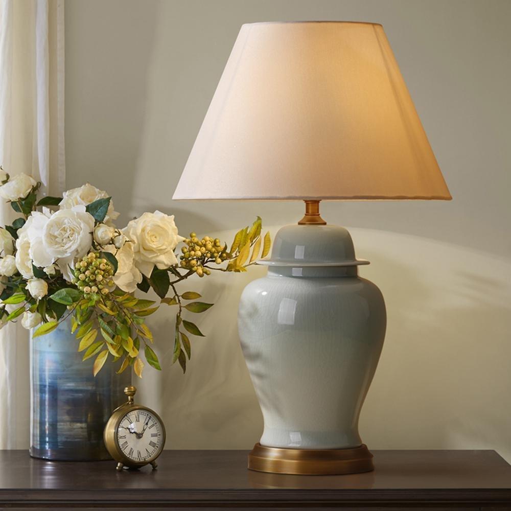 Kesierte Amerikanische Keramik-Lampe Keramik Riss großes Wohnzimmer Lampe Schlafzimmer Lampe Nachttischlampe minimalistisch im amerikanischen Stil , big